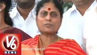 YCP Vijayamma to Media - Our Party Stands on One Decision - V6NEWSTELUGU