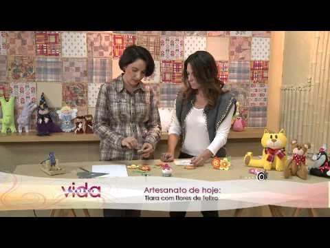 Vida Melhor - Artesanato: Tiara com flores de feltro (Priscila Cunha)