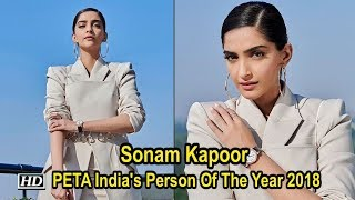 Sonam Kapoor honoured with PETA India's Person Of The Year 2018 - BOLLYWOODCOUNTRY