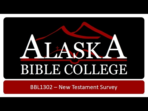 New Testament Survey   The Purpose of the New Testament