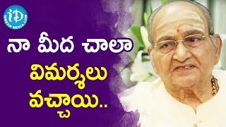 Director K Vishwanath About Movie Criticism - Sapthapadhi | Vishwanadh Amrutham - IDREAMMOVIES