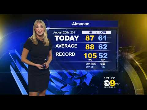 Evelyn Taft 2011/08/22 8PM KCAL9 HD; Black dress