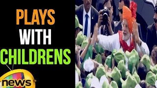 PM Narendra Modi Plays with Children | 72nd Independence Day | Mango News - MANGONEWS