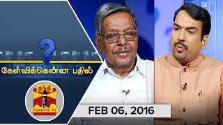Kelvikku Enna Bathil 06-02-2016 Interview With Panruti S. Ramachandran – Thanthi TV Show Kelvikkenna Bathil