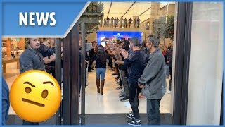 Apple staff's sales ritual at iPhone XS launch (London) - THESUNNEWSPAPER