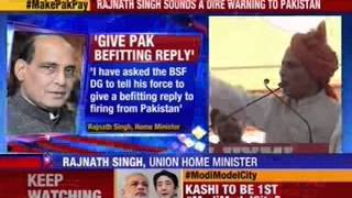 No white flag if Pakistan ceasefire violations continue: Rajnath Singh - NEWSXLIVE
