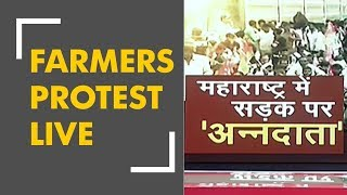 Breaking: Farmers march to Azad Maidan in Mumbai - ZEENEWS
