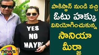Sania Mirza Cast Her Vote | Telangana Elections Live Updates | #TelanganaElections2018  |Mango News - MANGONEWS