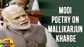PM Modi Poetry On Mallikarjun Kharge, Congress Leaders Protest In Lok Sabha | Mango News - MANGONEWS