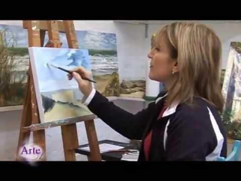 Cómo pintar un paisaje de mar y cielo al óleo (Parte 1)