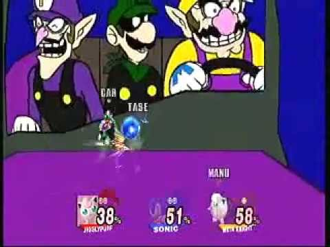 "Brawling on ""What Is Love - Mario Villains"" stage"