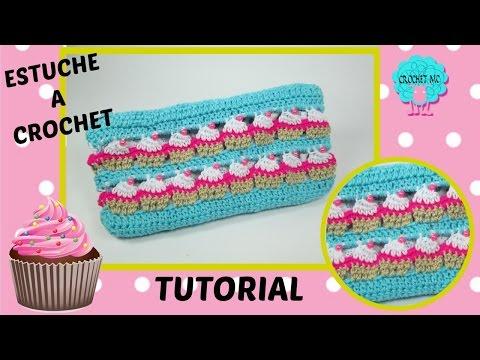 Tutorial estuche a crochet - cupcake