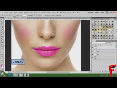 Tutorial Photoshop cs5 - Maquiagem Digital  (HD)