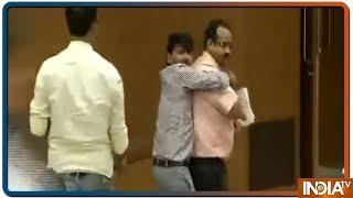 Shoe Hurled At BJP MP GVL Narasimha Rao During A Press Conference On Sadhvi Pragya In Delhi - INDIATV
