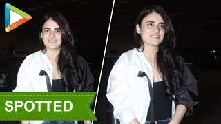 SPOTTED: Radhika Madan at airport - HUNGAMA