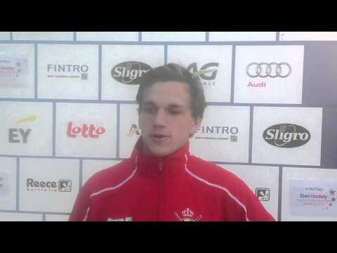 Fintro EuroHockey Junior Championships 2014 Day 4 - Post match interview BEL-POL (m) 7-0
