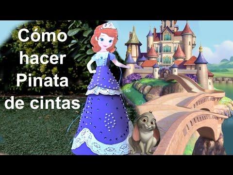 Piñata de la Princesa Sofía en foamy o goma Eva. Sofia the first pinata