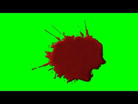 Blood splatter - free green screen -NDHq6uvoHhg