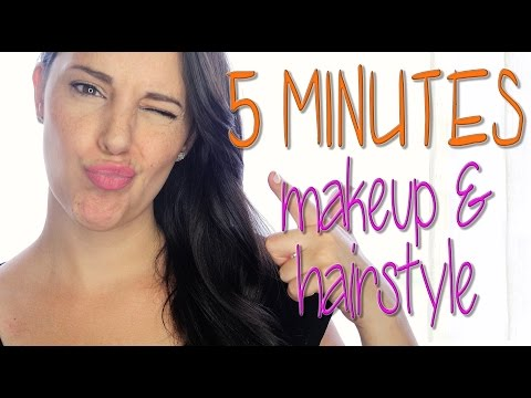 5 minutes makeup and 5 minutes hairstyle | Silvia Quiros