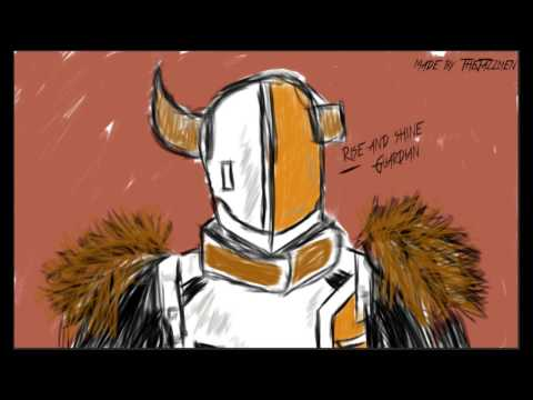 Drawing Lord Shaxx by thejazzmen