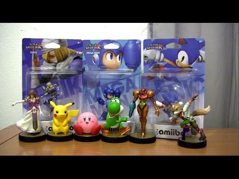 SXS - Amiibos (Figures) Video Review (Sonic, Megaman, Sheik, Fox & More)
