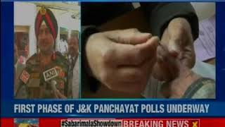 Voting for first phase of J&K Panchayat polls underway; tight security arrangements made - NEWSXLIVE
