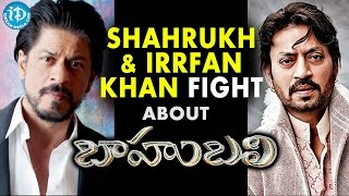 Shah Rukh Khan And Irrfan Khan Comedy Fight At Filmfare About Baahubali Secret
