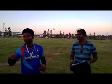 Srikanth Seela: Surya Solution Man of the Match award from SD Incredibles