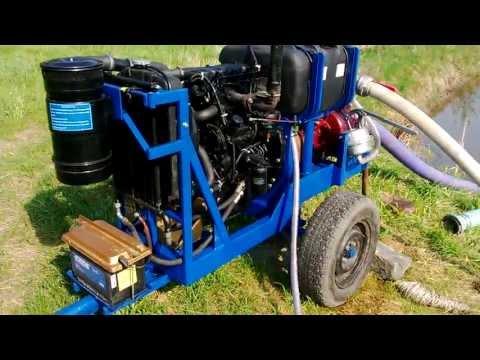 Agregat pompowy spalinowy SP 800 w pracy AGROMOTOR