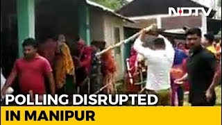 Voting Disrupted After Violence Erupts In Manipur Polling Station - NDTV