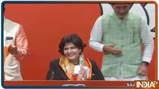 Paralympian Deepa Malik and INLD MLA Kehar Singh Rawat joins Bharatiya Janata Party - INDIATV