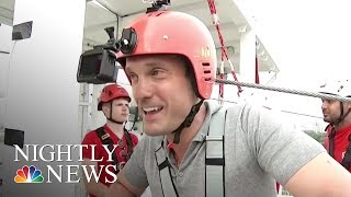 This London Zip Line Is Touted As Fastest In A Major City Center | NBC Nightly News - NBCNEWS