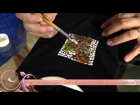 Aprenda a fazer uma linda decoupagem em casca de ovo sobre tecido!