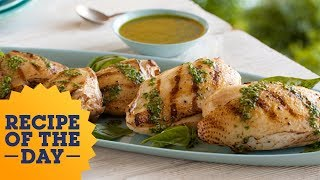 Recipe of the Day: Giada's Grilled Chicken With Basil Dressing | Food Network - FOODNETWORKTV