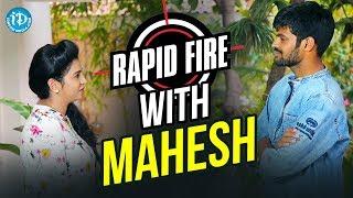 Rapid Fire With Mahesh || Anchor Komali Tho Kaburlu || #Rangasthalam - IDREAMMOVIES