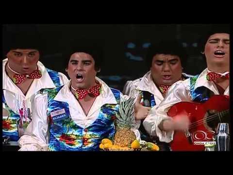 Sesión de Cuartos de final, la agrupación Los agitadores actúa hoy en la modalidad de Chirigotas.