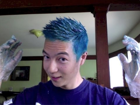 Bleaching and Dyeing Asian Hair to Blue (and Purple)