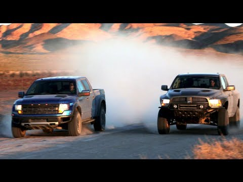 Ford Raptor vs Dodge Ram Runner! - Head 2 Head Episode 14