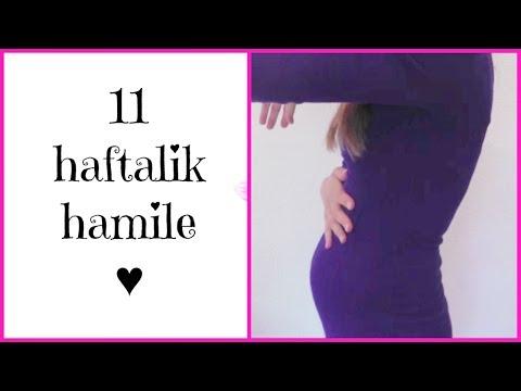 11 HAFTALIK HAMILE ♥ HAMILE GUNLUGUM