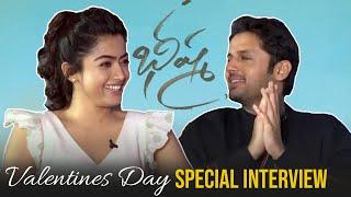 Bheeshma Valentines Day Special Interview | Nithiin & Rashmina Mandanna - TFPC