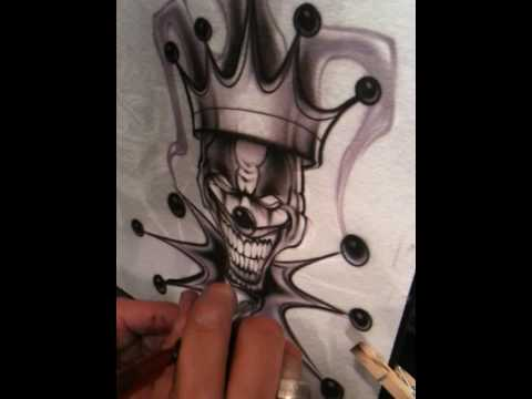 How to airbrush a clown by Jaime Rodriguez part2