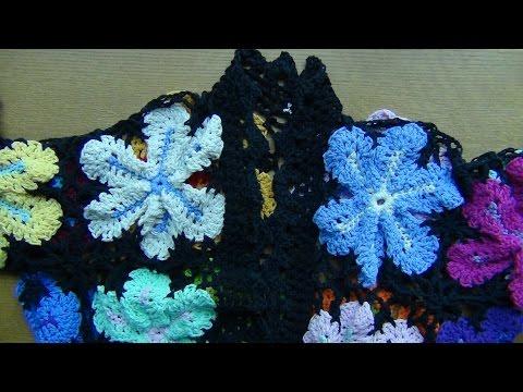 Crocheted Flower Jacket Part 2
