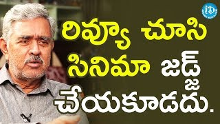 Movies Should Not Be Judged By It's Reviews - Madhu Babu || Dil Se With Anjali - IDREAMMOVIES