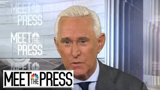 Full Roger Stone Interview: 'There's no evidence' of early Wikileaks content | Meet The Press - NBCNEWS