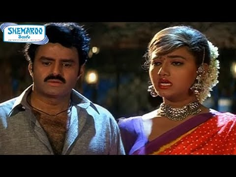 Pavitra Prema Movie Scenes - Balakrishna misbehaving with Laila - Roshini, Ali