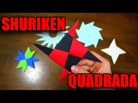 Origami - Como Fazer uma Shuriken Quadrada de Papel!