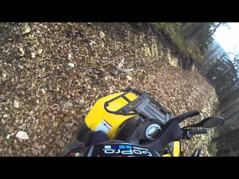 Can-Am Outlander 400, 500XT, Commander 800R & KTM 85 SX Trail ride - GoPro Hero 3