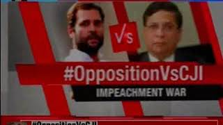 Impeachment war: BJP slams Congress for the impeachment motion against CJI Dipak Misra - NEWSXLIVE