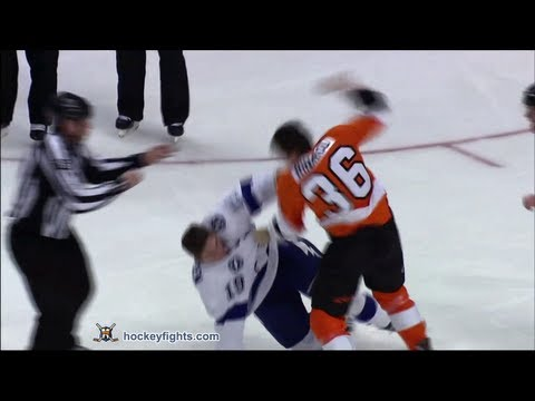 B.J. Crombeen vs Zac Rinaldo Feb 5, 2013