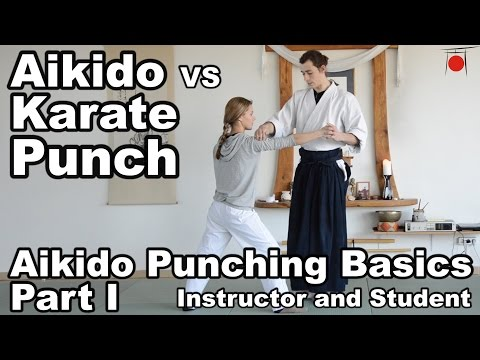 Punching Basics in Aikido - Part 1 - Mila and Rokas